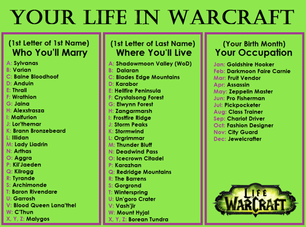 LIFE IN WARCRAFT