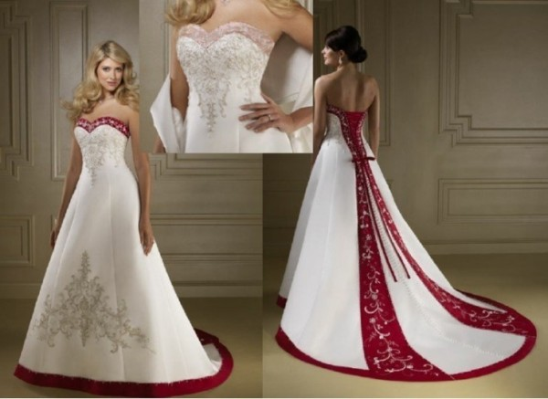 Red-And-White-Wedding-Dresses-Under-200